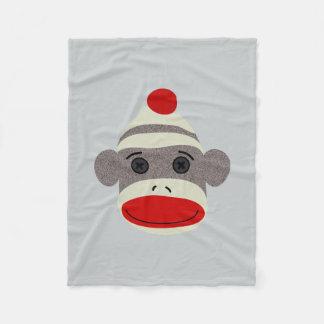 Cara del mono del calcetín manta de forro polar
