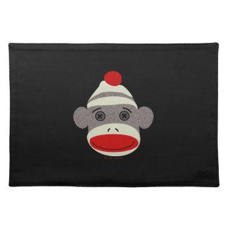 Cara del mono del calcetín mantel individual