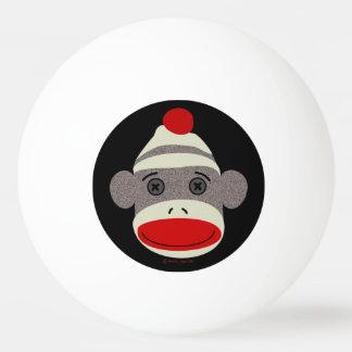 Cara del mono del calcetín pelota de ping pong