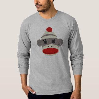 Cara del mono del calcetín remeras