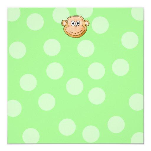 """Cara del mono invitación 5.25"""" x 5.25"""""""