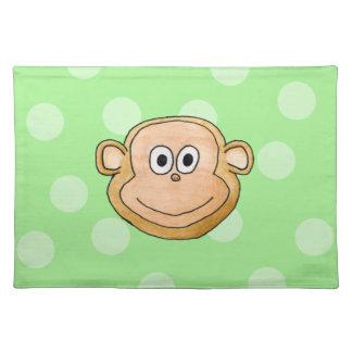 Cara del mono mantel