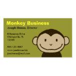 Cara del mono plantilla de tarjeta de negocio