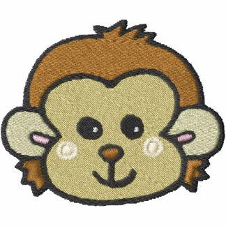cara del mono sudadera bordada