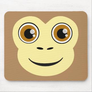 Cara del mono tapete de ratones