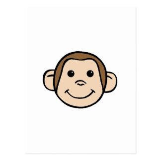 Cara del mono tarjetas postales