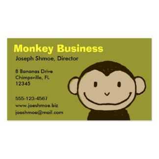 Cara del mono tarjetas de visita