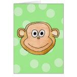 Cara del mono tarjetón