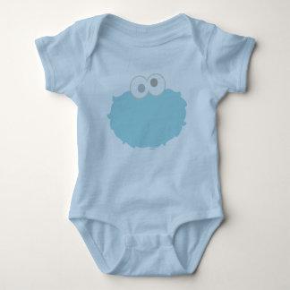 Cara del monstruo de la galleta del bebé camiseta