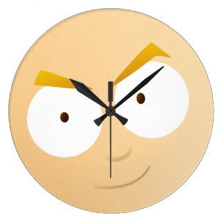 Cara del muchacho del animado - reloj redondo