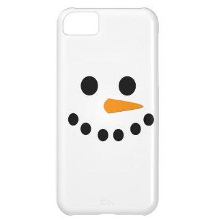 Cara del muñeco de nieve funda para iPhone 5C