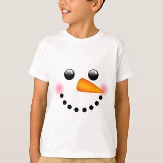 Cara del muñeco de nieve playera