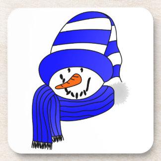 Cara del muñeco de nieve posavaso