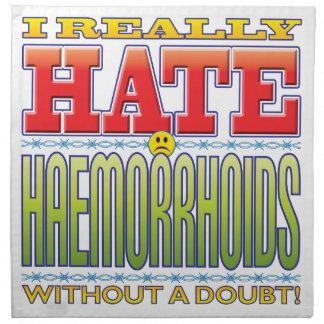 Cara del odio de la hemorroides servilleta de papel