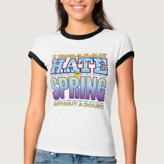 Cara del odio de la primavera playeras