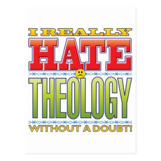 Cara del odio de la teología postal