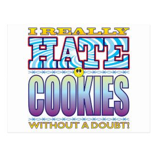 Cara del odio de las galletas postales