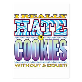 Cara del odio de las galletas tarjetas postales