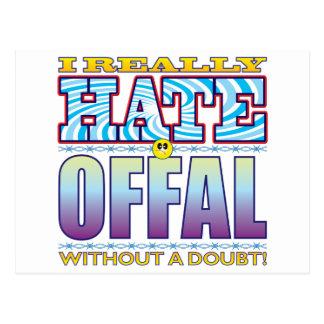 Cara del odio de las menudencias tarjetas postales