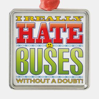 Cara del odio de los autobuses adorno de navidad