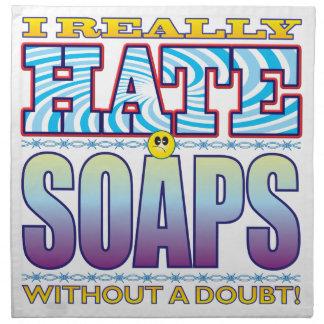 Cara del odio de los jabones servilletas de papel