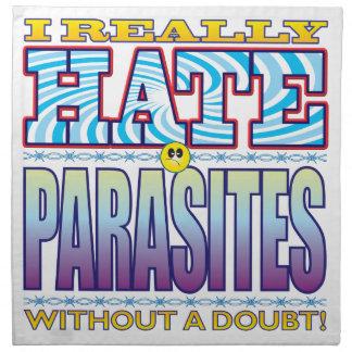 Cara del odio de los parásitos servilleta de papel