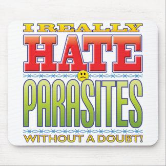 Cara del odio de los parásitos mouse pads