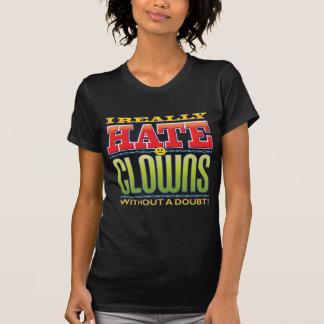 Cara del odio de los payasos camisetas