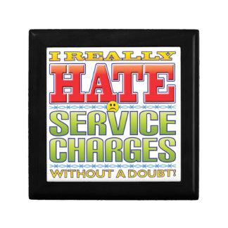 Cara del odio de los precios de servicio joyero cuadrado pequeño