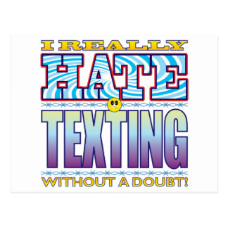Cara del odio de Texting Postal