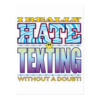 Cara del odio de Texting Tarjeta Postal