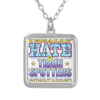 Cara del odio de Trainspotters Colgante Cuadrado