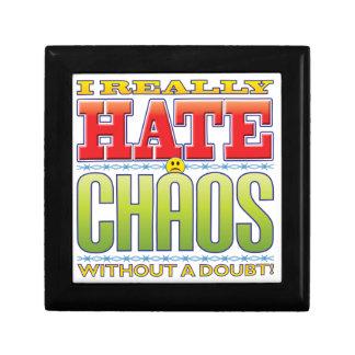 Cara del odio del caos cajas de recuerdo