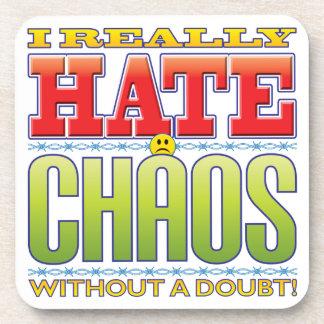 Cara del odio del caos posavaso