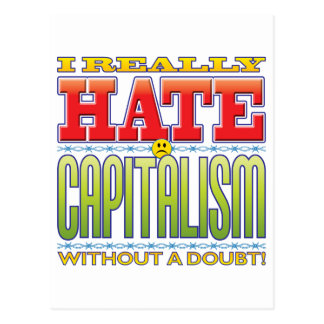 Cara del odio del capitalismo postal