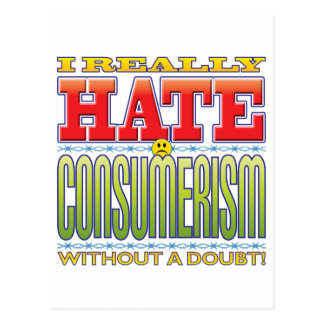 Cara del odio del consumerismo postal