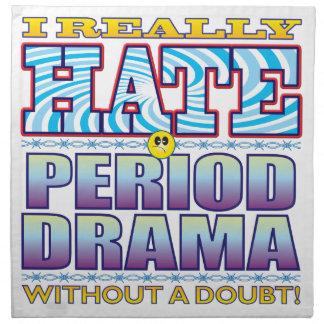 Cara del odio del drama de período servilleta