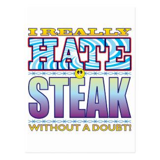 Cara del odio del filete postales