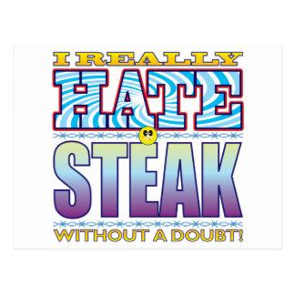 Cara del odio del filete tarjetas postales