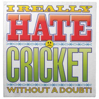Cara del odio del grillo servilleta de papel