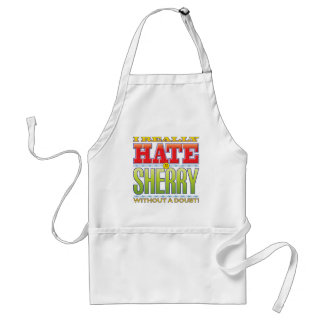 Cara del odio del jerez delantal