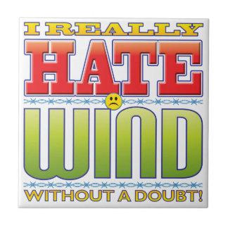 Cara del odio del viento azulejos cerámicos