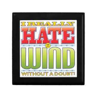 Cara del odio del viento caja de recuerdo