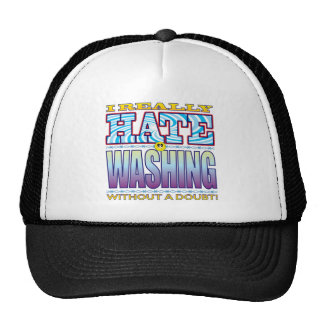 Cara del odio que se lava gorros