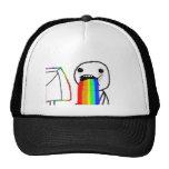 Cara del ordenador del arco iris gorras