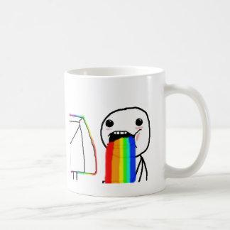 Cara del ordenador del arco iris tazas de café