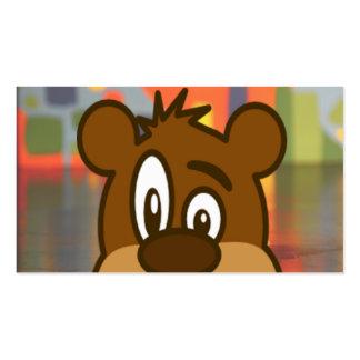 Cara del oso de Brown Tarjetas De Visita