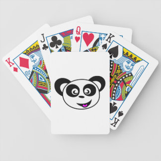 Cara del oso de panda del dibujo animado baraja cartas de poker