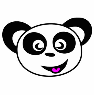 Cara del oso de panda del dibujo animado escultura fotografica