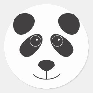 Cara del oso de panda pegatinas redondas